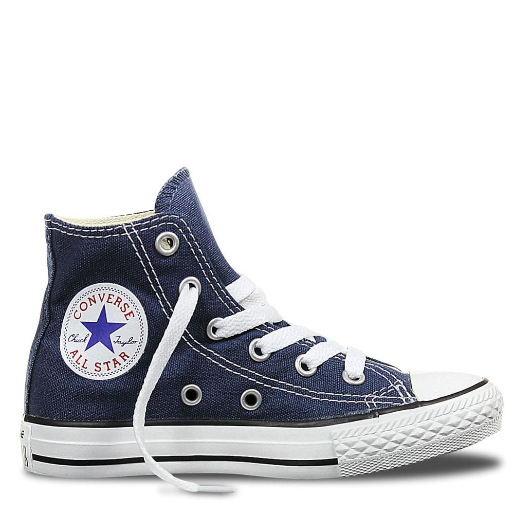92c8dc051 Zapatilla Chuck Taylor All Star Azul Caña Alta Unisex JUNIOR ...