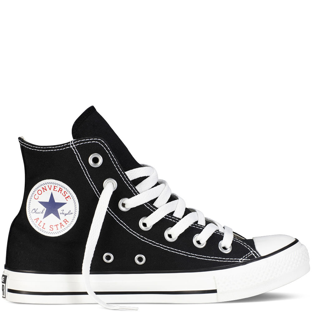 zapatillas converse negras con ca?a