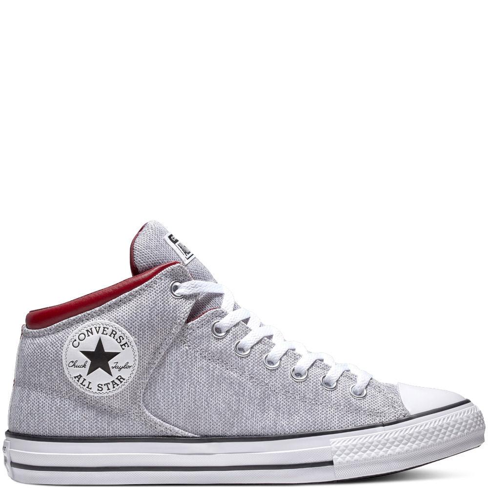 4ae413617a01 Zapatilla Hombre Chuck Taylor All Star High Street Caña Alta Gris ...