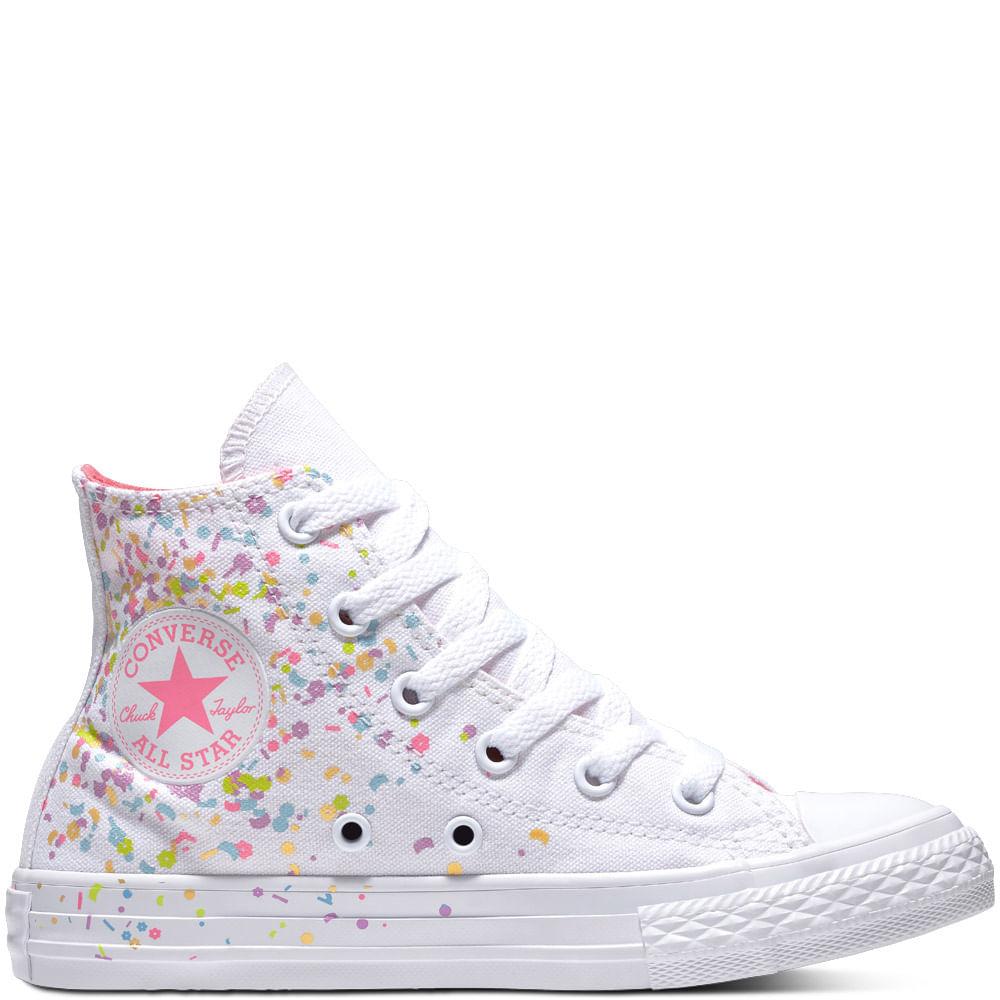 2converse niña blancas zapatillas
