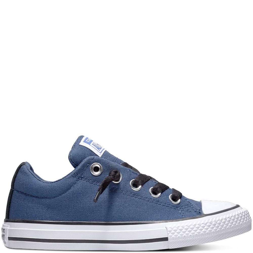 5a45b8a8 Converse. Zapatilla Niño Chuck Taylor All Star Street Caña Baja Azul