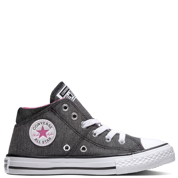 Zapatilla-Niña-Junior-Chuck-Taylor-All-Star-Madison-Caña-Media-Negra