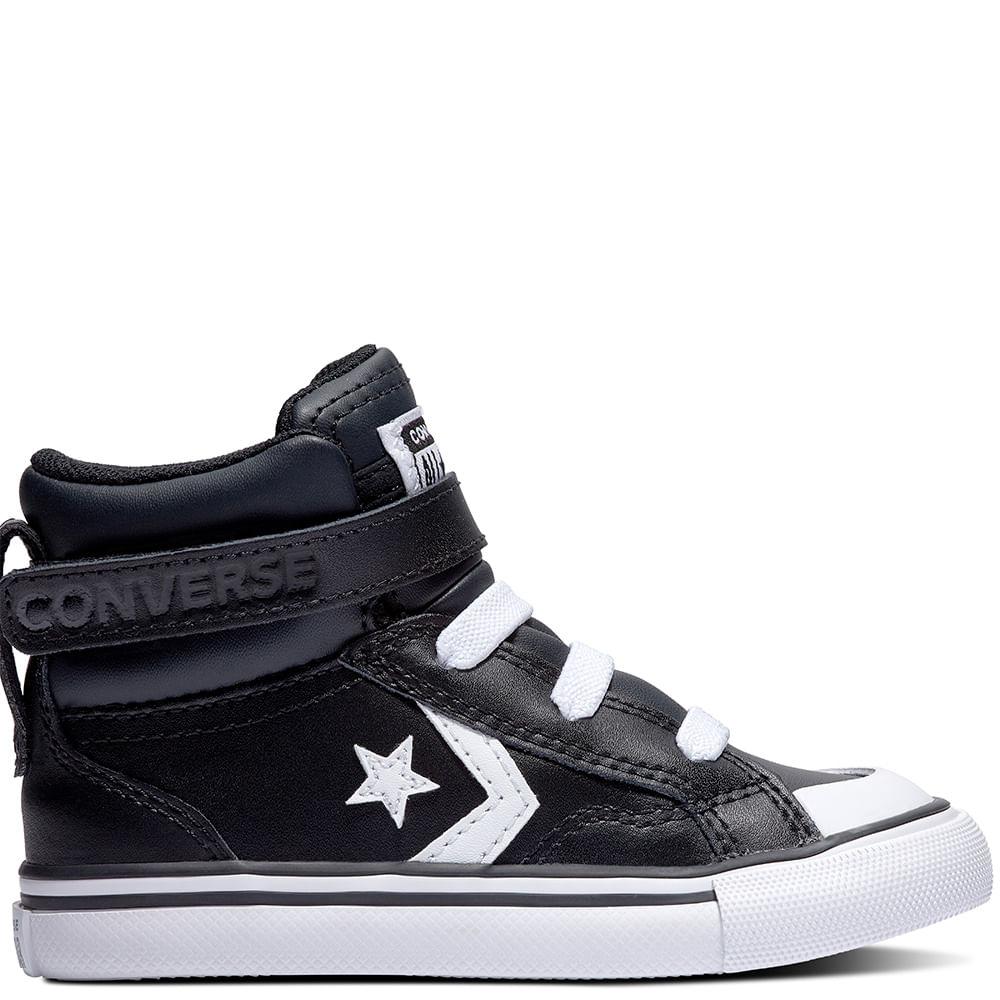 zapatillas negra niño converse