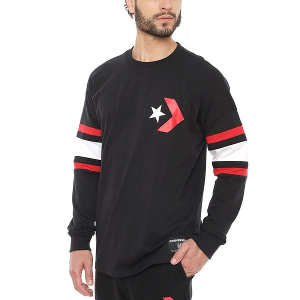 Polera-Manga-Larga-Star-Chevron-Football-Hombre-Negra-
