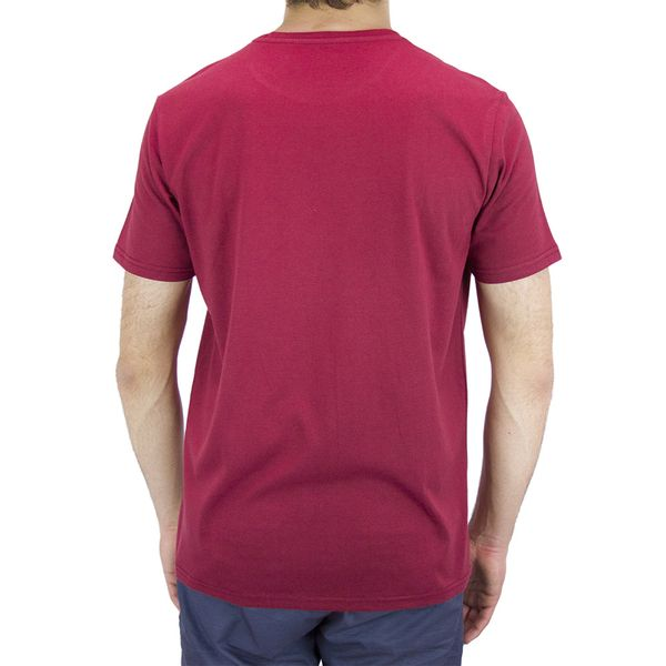 Polera-Small-Logo-Cotton-Hombre-Burdeo