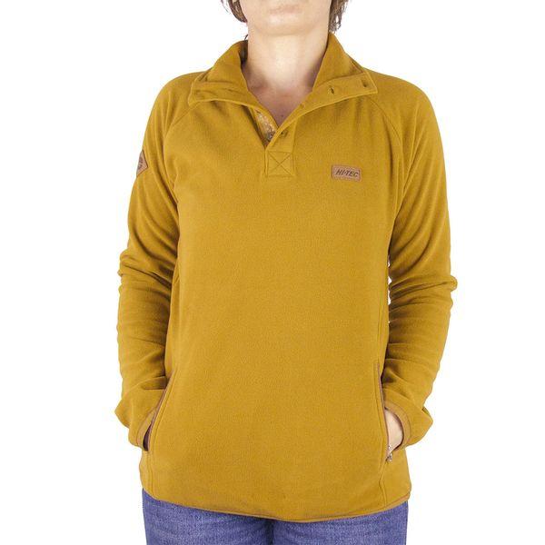 Polar-Microfleece-Half-Buttons-Mujer-Amarillo
