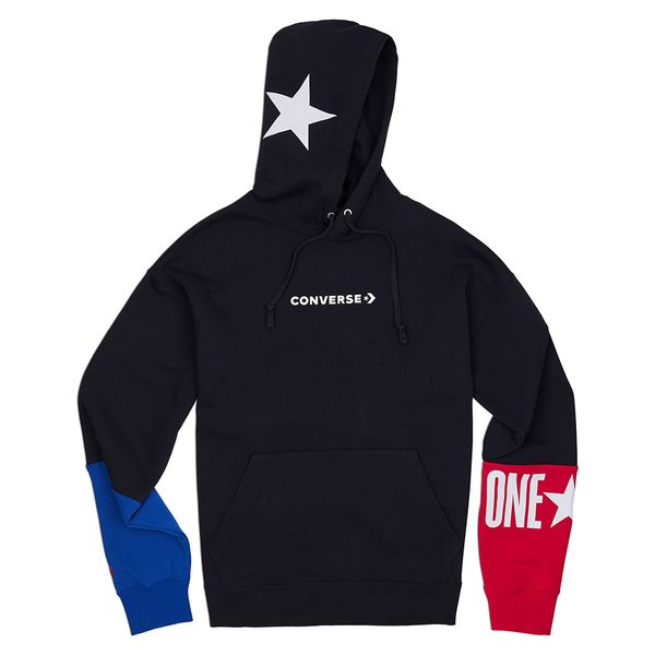 Poleron-Hoodie-Hombre-One-Star-Bloque-de-Color-Negro