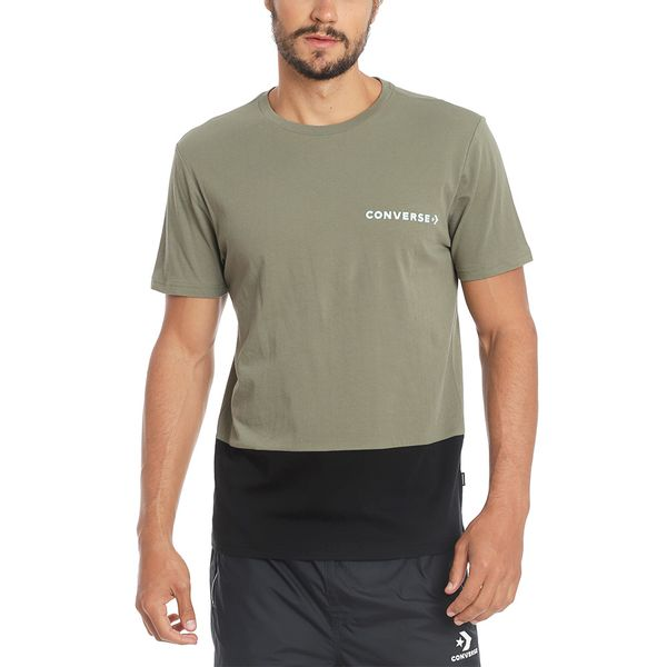 Polera-Hombre-Bloque-de-Color-Verde