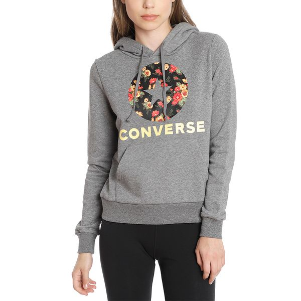 Poleron-Hoodie-Mujer-Flores-Chuck-Patch-Gris