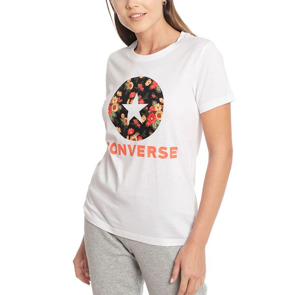 Polera-Mujer-Chuck-Patch-Floral-Blanca
