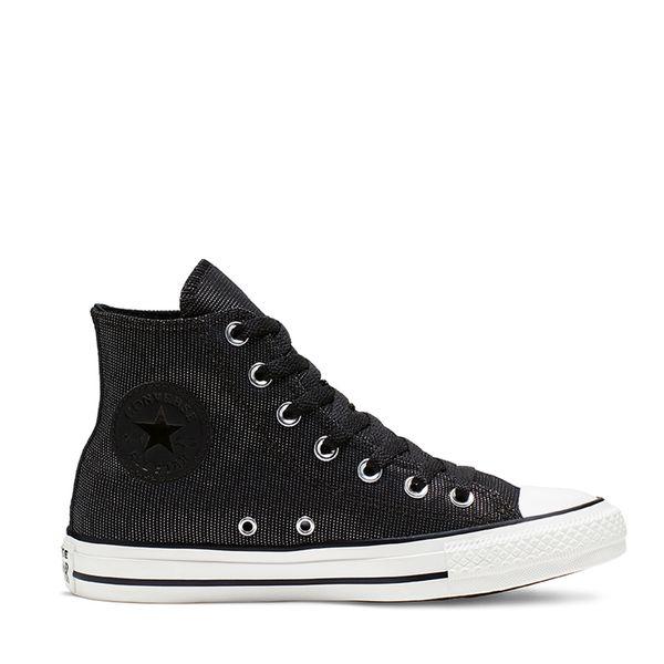 zapatillas tipo converse mujer negras
