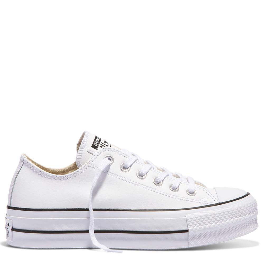 zapatillas mujer converse plataforma cuero